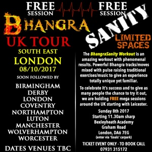 BHANGRASANITY MEGA WORKOUT LONDON